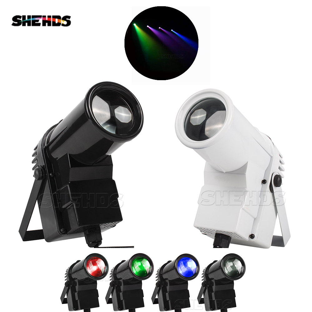 SHEHDS Mini LED 10W RGBW 4in1 Spot Beam DMX Par Lights For Disco Ball DJ Family Party Stage Effect Lighting Fast Shipping