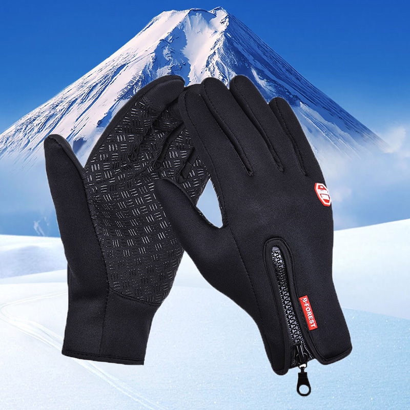 Waterproof Winter Warm Gloves Windproof Outdoor Ski Gloves Thicken Warm Mittens Touch Screen Gloves Unisex Men Cycling Glove