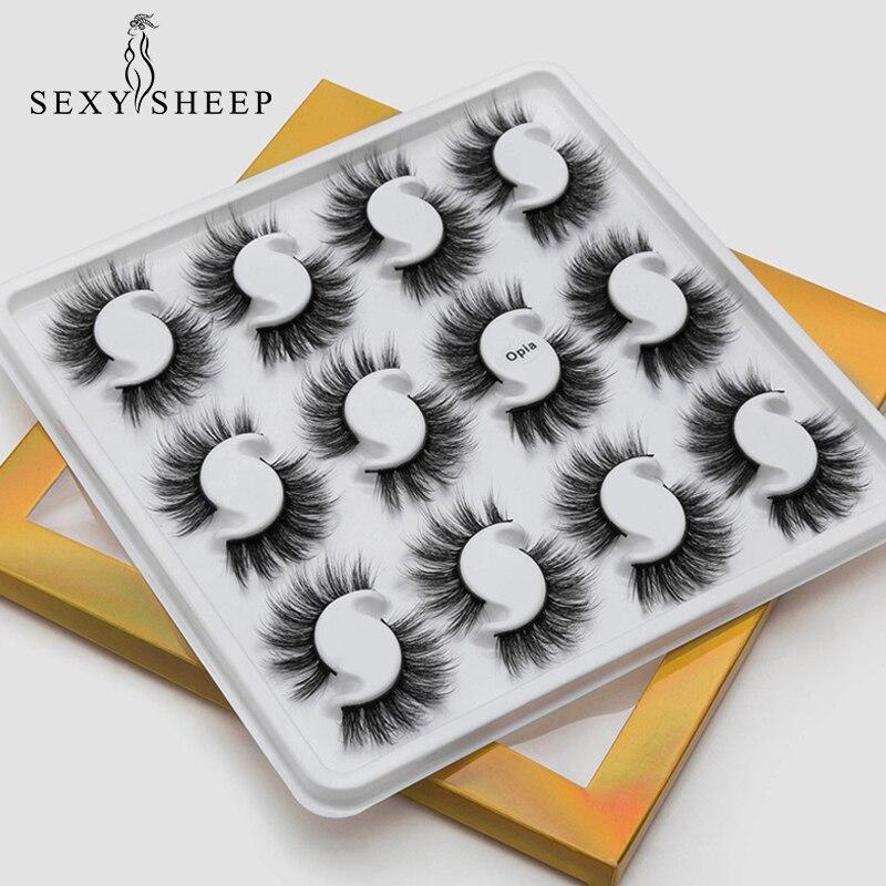 SEXYSHEEP 12 Pairs 20mm Natural 3D False Eyelashes Fake Lashes Makeup Kit Mink Lashes Extension Mink Eyelashes Maquiagem