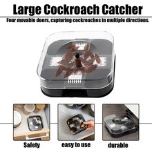 Safe Non-Toxic Cockroach Traps Box Small Size Effective Home Kitchen Restaurant Killer Trap Bug Catcher Tool