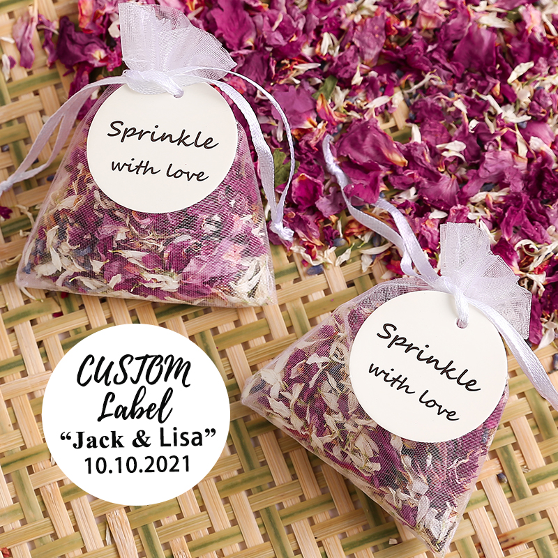 Custom Natural Wedding Confetti Dried flower Petals Wedding Biodegradable Rose Petal Confetti Wedding and Party Decorations