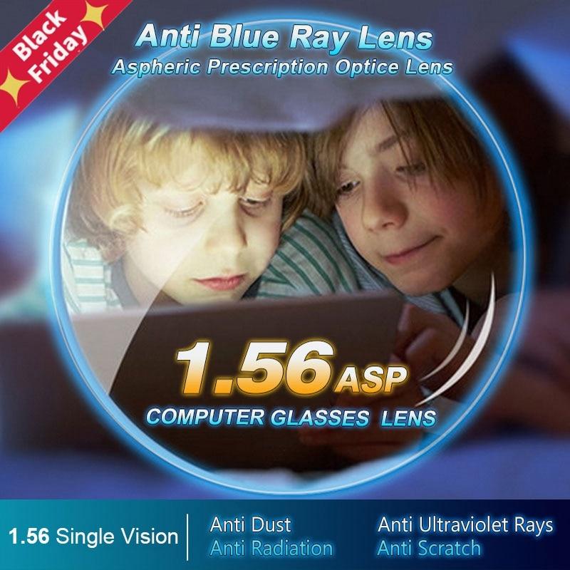 1.56 Anti-Blue Ray Single Vision Aspheric Optical Lenses Prescription Vision Correction Computer Reading Lens For Women And Men