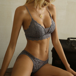 Women's Underwear Set Lace Sexy Push-Up Bra And Panty Sets Comfortable Brassiere Embroidery Cotton Lingerie Set