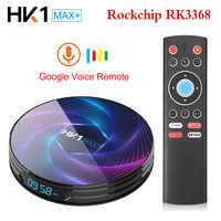 HK1 MAX Plus Octa Core Android 9.0 Smart TV Box 4GB 128GB 64GB 32GB RK3368PRO 1080P H.265 4K youtube Netflix HK1MAX Set Top Box