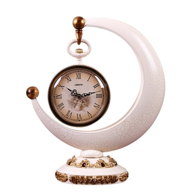 1 pièces horloge créative européenne salon hôtel bureau bureau horloge décorations pour la maison horloge Quartz silencieuse cadran numérique romain