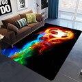 Современный красочный напольный коврик с изображением пламени и футбольного мяча  3D принтованные ковры для гостиной  спальни  декоративный...