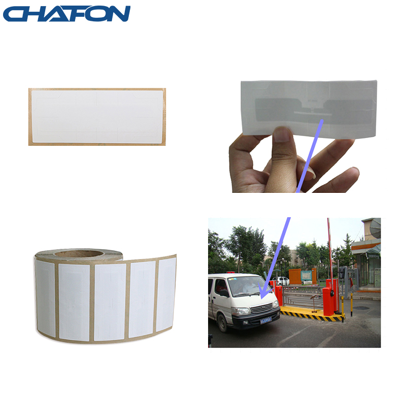 1~15m read distance EPC-Gen2 RFID windshield label sticker paper Alien H3 chip with 3m glue for car parking system