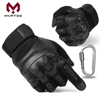 цена на Touch Screen PU Leather Motorcycle Gloves Motorbike Motocross Moto Cycling Hard Knuckle Wear Resistant Full Finger Glove Men