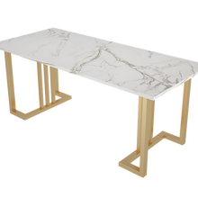 Nordic Light Luxury Marble Dining Table Art Metal Home Coffe