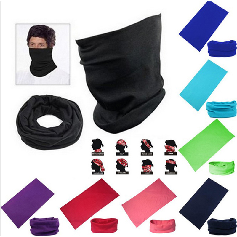 Men Women's Head Scarf Warmer Bandana For Outdoor Sport Biker Hiking Skiing Magic Tube Scarf Protection Neck Cover Face Mask