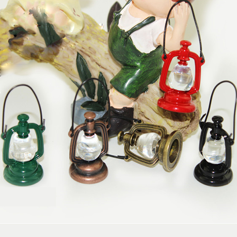 DIY Dollhouse Miniature 1:12 Mini Oil Lamp Dollhouse Furniture Doll House Living Room Accessories Barn Lantern Toys Casa Boneca