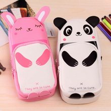 Cute Cartoon Pencil Case Students Lovely Animal Storage Makeup Pen Bag Stationery AS99