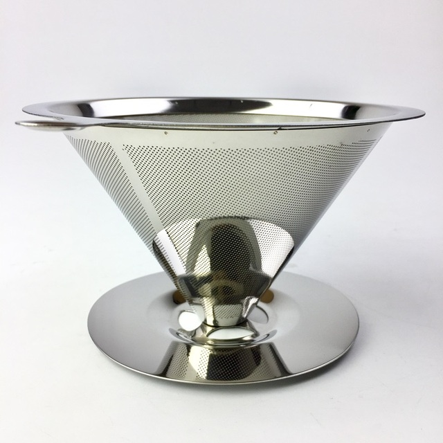 Reusable Coffee Filter Holder Stainless Steel Brew Drip Coffee Filters Funnel Metal Mesh Coffee Tea Filter Basket Tools 5