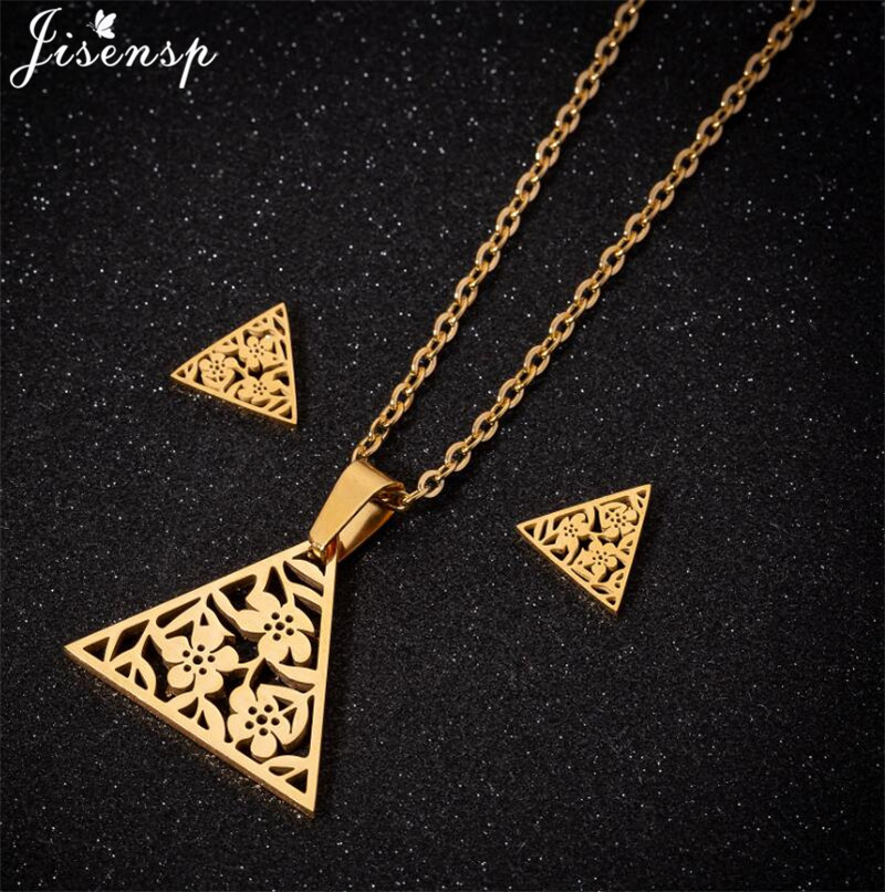Flower Triangle Necklace