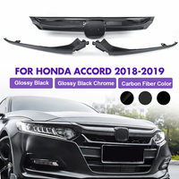 Front Grille Carbon Fiber Grille Cover Replacement Part Base For Honda For Accord Sedan 10th Gen 2018 2019
