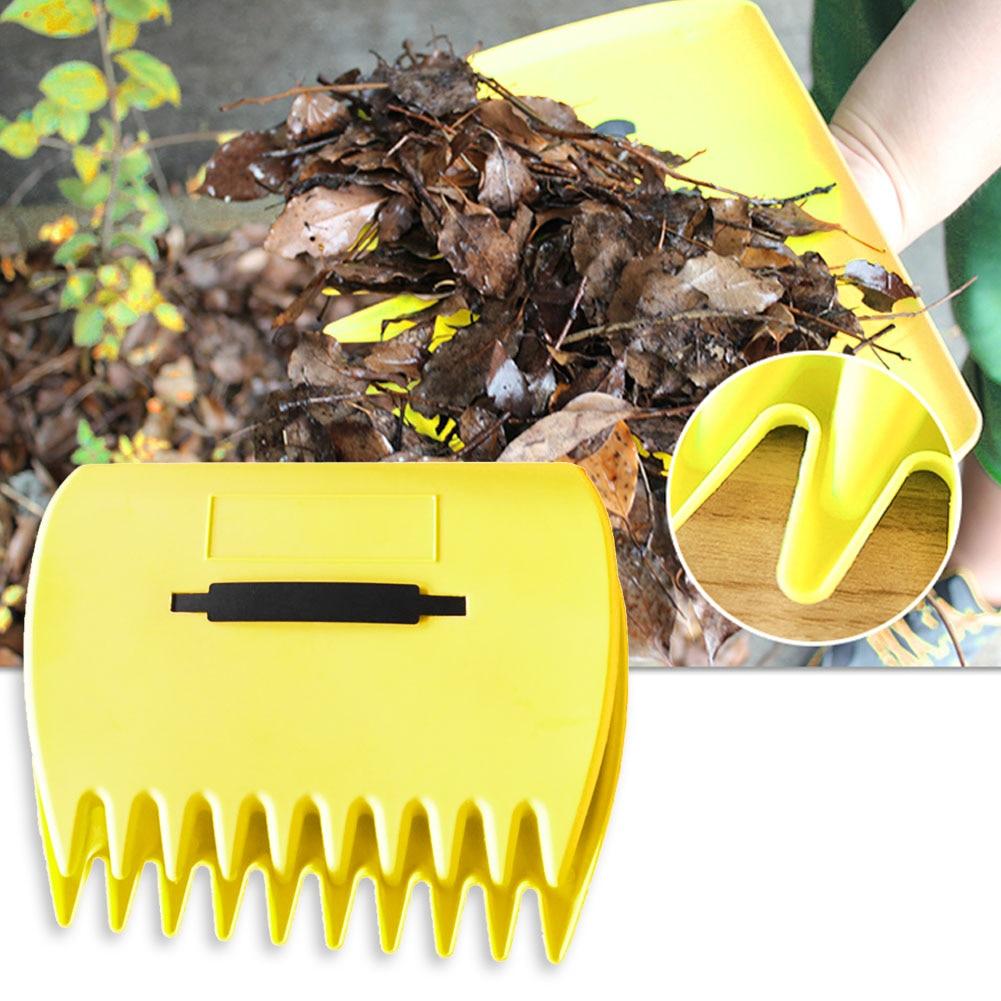 2 x Garden Leaf Grabber Hand Rakes Handheld Grass Leaves Waste Rubbish Collector