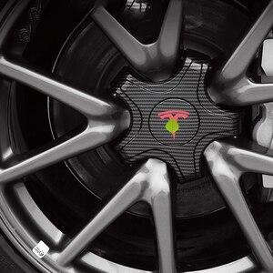 Image 2 - FCXvenle عجلة مركز قبعات ل تسلا نموذج 3 سيارة محور العجلة 5 مخلب واقية يغطي 4 قطعة تعديل السيارات اكسسوارات التصميم