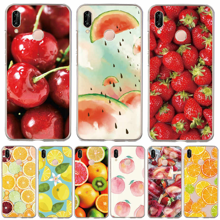 Fruit cherry DC For Huawei p20 Pro P20 Lite P30 P9 P8 P10 Honor 8X 9X 10 20i Cover Etui Funda Capa Shell Capinha Pattern Case