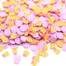 100 г/лот, фрукты, банан, лук, фимо, полимерный ломтик, горячая глина, разбрызгивает слизи, материал, крошечные милые частицы грязи, декор для ногтей