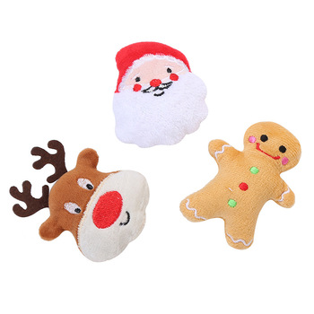 Pet Products Cat Self-Hey Toys Plush Cotton Puppets Christmas Deer Santa Claus Christmas Series Cat Self-excited Juggling Toys image