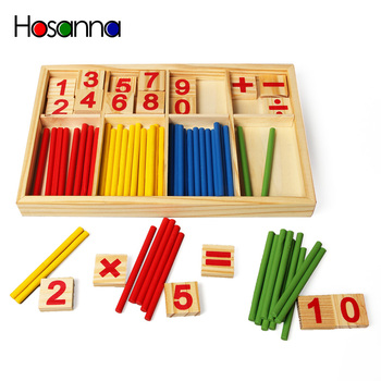 Montessori Toys Materials Counting Sticks Kids Baby Educational Wooden Math Toys for Children Kid Early Learning Kit Montessori image