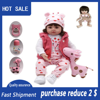 Bebe Reborn Baby 48cm full Silicone Reborn Baby Doll adorable Lifelike toddler Bonecas girl Children Silicone Christmas Toys npk 22inch 55cm lifelike reborn full reborn silicone vinyl children play house toys bebe gift boneca reborn silicone reborn baby