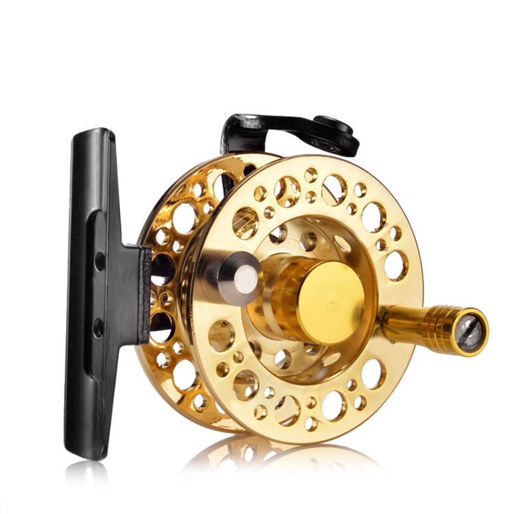 Dragon Lizard And a Fishing Vessel New Style Gold-Tone All-Metal Ceramic Pilot Hole Front Wheel Hit Fishing Reel(China)
