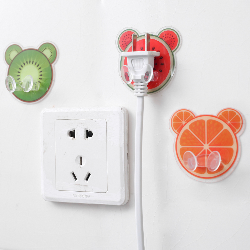 Creative Wall Storage Hook Power Plug Socket Holder Wall Strong Adhesive Hanger Home Office Kitchen Bathroom Accessoriesies