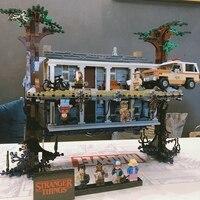 2499 шт legoinglys странные вещи переворачивающие мир вверх дном Строительные блоки Набор кирпичей детские игрушки подарок