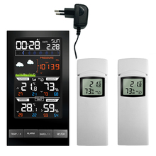 Wireless Weather Station Digital Weather Forecast with 2 Outdoor Sensors mmHg Temperature Humidity Display Barometer Thermometer