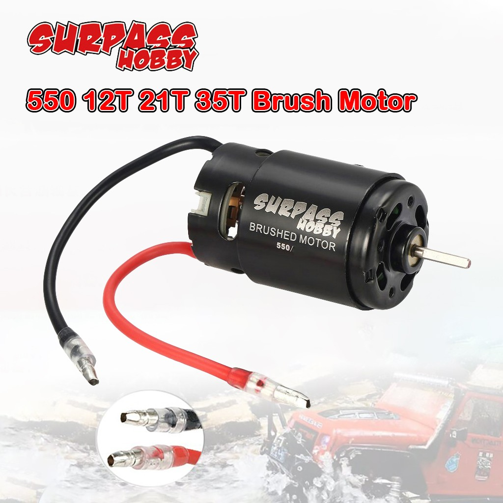 2020 NEW HOT SURPASSHOBBY 550 12T 21T 35T Brush Motor For Large Torque RC Car Upgrade Parts Accessories Kids Toys