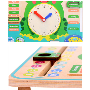 Image 3 - Montessori Wooden Toys Baby Weather Season Calendar Clock Time Cognition Preschool Educational Teaching Aids Toys For Children
