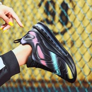 Image 5 - النساء أحذية أحذية رياضية وسادة هوائية المدربين أحذية امرأة منصة حذاء رياضة الخريف الشتاء الأحذية تنفس لينة سلة فام