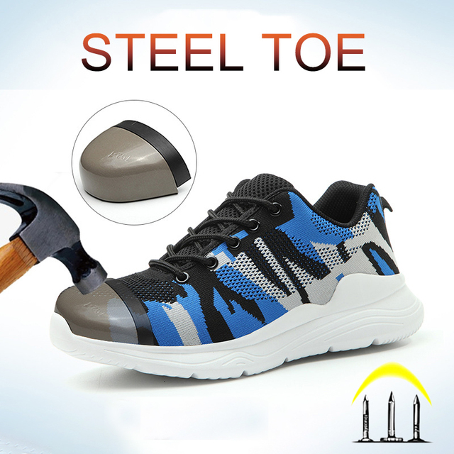 Camouflage Work Shoes -Indestructible Sneakers -1st Men Security Boots  4