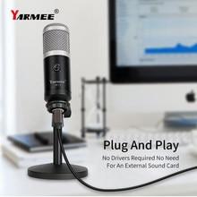 Profissional usb computador microfone pc microfone para computador portátil telefone móvel ao vivo streaming gravação yr11
