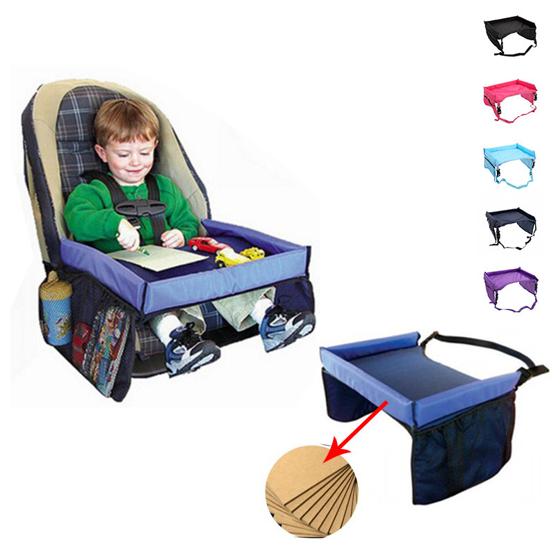 Baby Car Safety Seat Child Protection Tray Stroller Playpen Waterproof Portable Toy Table Kids Car Chair Food Rack for Babies