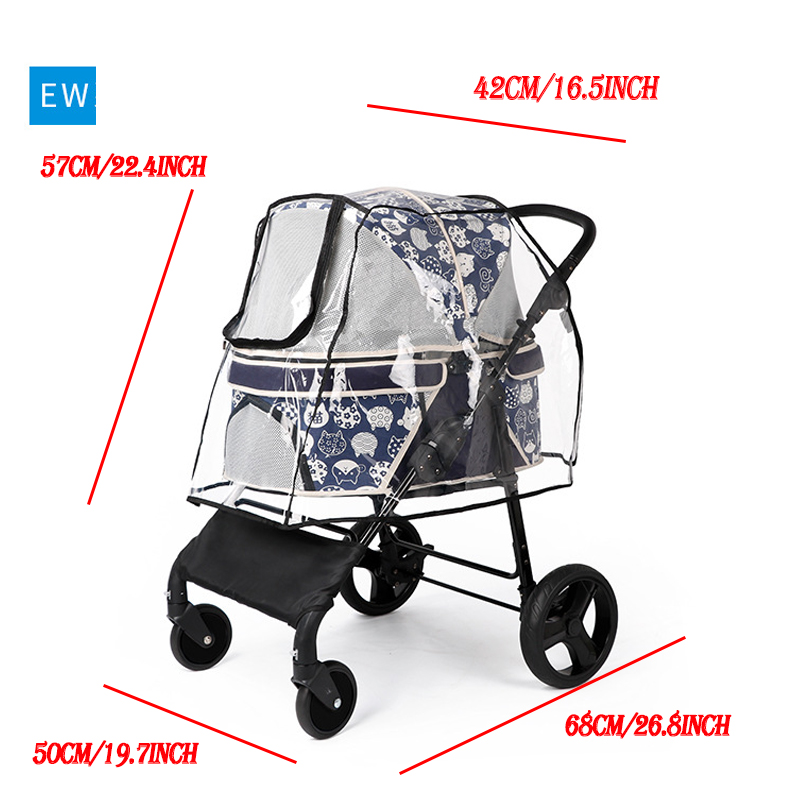 Outdoor-Pet-Cart-Dog-Cat-Carrier-Stroller-Teddy-Puppy-Out-Trolleys-Small-Cat-Foldable-Stroller-Lightweight (5)