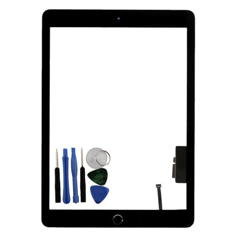 For Ipad 5 Gen A1822 A1823 Press Screen Digitizer Glass Home Button Black + Tool