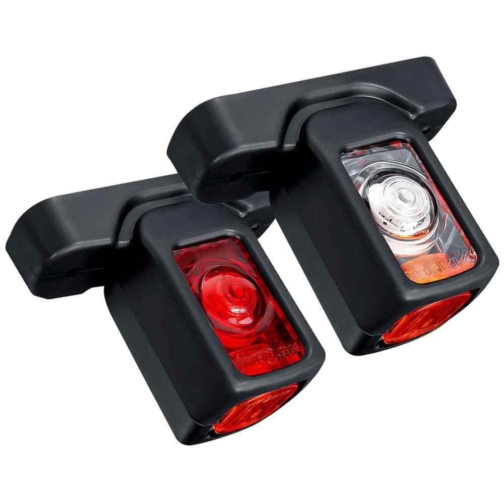 2PCS 12/24V LED Side MARKER Light Universal รถบรรทุกรถพ่วงรถแทรกเตอร์คุณภาพสูงกันน้ำเลี้ยวสัญญาณไฟ
