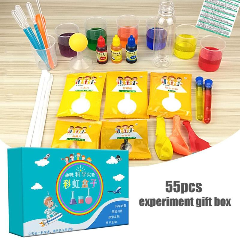 DIY Science Experiment Toys Set Children Intellectual Development Educational Game Kids Toy Handmade Science Experiment Toy Gift