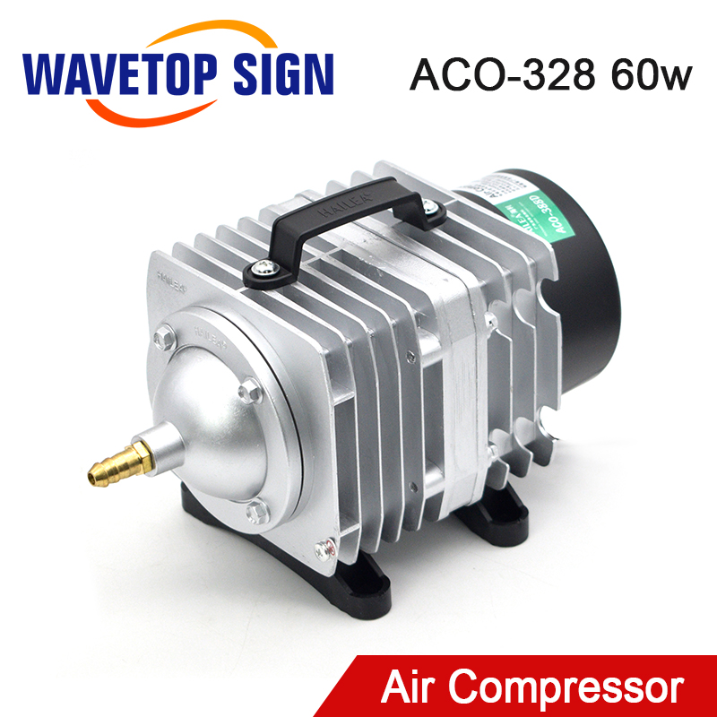 WaveTopSign 60W Air Compressor Electrical Magnetic Air Pump For CO2 Laser Engraving Cutting Machine ACO-328