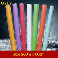 200m Solid Color PVC Waterproof Self adhesive Wallpaper 1Roll for Living Room Kids Bedroom Decor Contact Paper Kitchen Cabinet