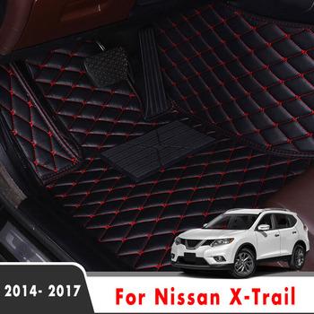 Dywaniki samochodowe dla Nissan x-trail Rogue T32 2017 2016 2015 2014 akcesoria do wnętrz samochodowych niestandardowe dywaniki samochodowe wodoodporne osłony części tanie i dobre opinie Sztuczna skóra CN (pochodzenie) Włókien syntetycznych Skóra Matowa Maty i dywany decoration For Nissan X-Trail Rogue T32 2014-2017