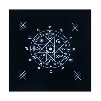 50X50CM Tarot Card Tablecloth Astrology Divination Altar Velvet Cloth Board Games Oracle Cards Mat Pad Runes Witchcraft Supplies image