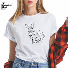 Женская футболка свободного покроя kawaii размера плюс с геометрическим