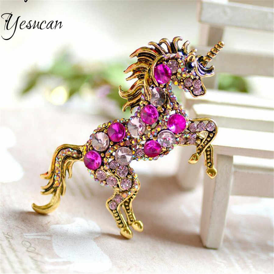 Unicorn Brooch Horse Pin Mythical Jewelry