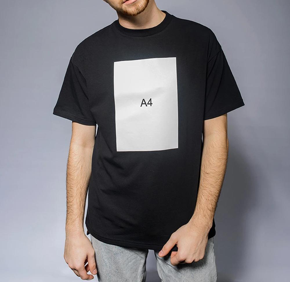 Mens T Shirts 100 Cotton Merch A4 Paper Print Casual Fashion Men s O neck Tops
