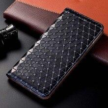 Ímã natural couro genuíno pele flip carteira livro telefone capa para huawei p20 p30 lite pro p 20 30 luz 64/128/256 gb