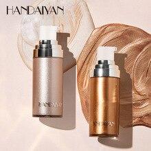 Maquillaje HANDAIYAN iluminador contorno maquillaje metálico líquido cara cuerpo luminizador brillo resaltador paleta TSLM2