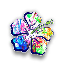 Funny hibiscus flower car sticker color jdm style graphic waterproof